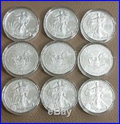 2018 1oz Canada Silver Maple Bullion Coin (Set of 9) Uncirculated