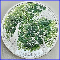 2018 $30 Canadian Canopy The Maple Leaf, 2 oz. Pure Silver Colored Proof Coin