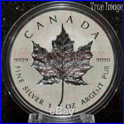 2018 30th Anniversary of SML $20 Pure Silver Proof Incuse Maple Leaf Coin Canada
