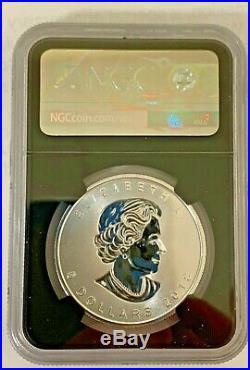 2018 $5 Canada Silver Maple Leaf-incuse Design-ngc Ms 70-fdoi-30th Anniversary