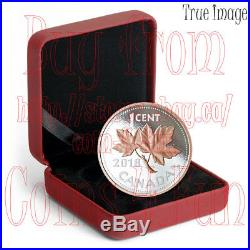 2018 Big Coin Series #7 Maple Leaf 1c 5 OZ Pure Silver with Rose Gold One Cent