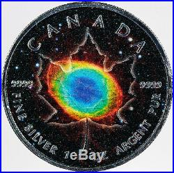 2018 CANADA SPACE LEAVES RING NEBULA MAPLE LEAF 5$ SILVER BU IN BOX WithCOA 53/100