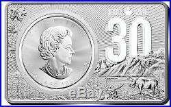 2018 CANADIAN MAPLE LEAF COIN & BAR 30th ANNIVERSARY Silver Set