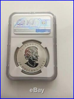 2018 Canada 1 oz Silver Maple Leaf Incuse Reverse Proof $20 NGC PF 70