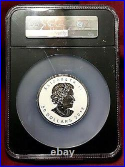 2018 Canada 3oz Silver Incuse Maple Leaf Ngc Pf-70 Rev Pf First Release