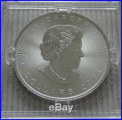 2018 Canada $5 Privy Mark f15 Maple Leaf 1 oz silver coin Fabulous capsule