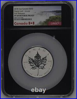 2018 Canada $50 3 Oz Maple Leaf Incuse First Releases NGC PF69 Silver Coin