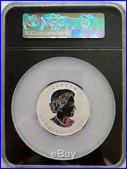 2018 Canada $50 Maple Leaf Incuse Design 3 Oz Silver. 999 NGC PF70 Reverse Proof