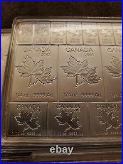 2018 Canada Mapleflex 2 oz Silver Maple Leaf Coin Bar. 9999 fine RCM