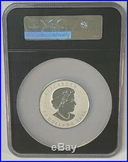 2018 Canada Silver Maple Leaf 3 oz Coin Incuse Design First Release NGC PF70 RP