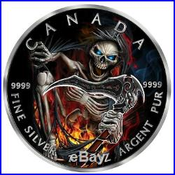 2018 Canadian Maple Leaf APOCALYPSE GRIM REAPER lll 1 Oz Silver Coin