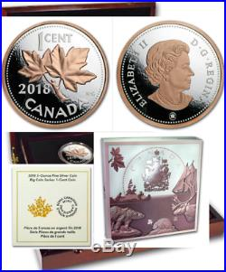 2018 Penny Renewed 1-Cent Big Coin 5OZ Pure Silver Proof Canada Coin Maple Leaf
