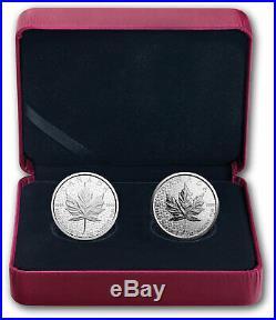 2018 SML 30th Anniversary of Silver Maple Leaf $5 Pure Silver 2-Coin Set Canada
