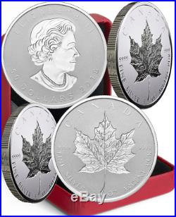 2018 Silver Maple Leaf 30th Anniv Double Incuse SML $50 3OZ Ag Proof Coin Canada