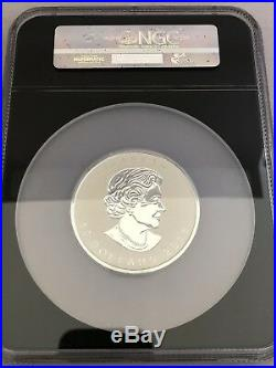 2018 Silver Maple leaf 3 ounce $50 Reverse Proof PF70 First Day Issue