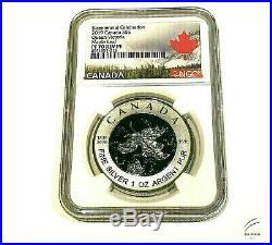 2019 $5 Canada 1oz Ngc Pf70 Silver Maple Leaf Victoria Blue Rhodium Rev Proof Fr