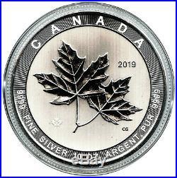 2019 $50 Canada 10 oz Fine Silver Magnificent Maple Leaves BU