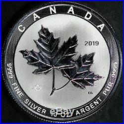 2019 $50 Canada Maple Leaf 10 oz. 999 Fine Silver Reverse Proof Round