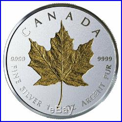 2019 Canada 1 oz Silver Maple Leaf Incuse Gilt Reverse Proof $20 OGP SKU57226