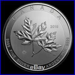 2019 Canada 10 oz Silver $50 Magnificent Maple Leaves BU SKU#188569