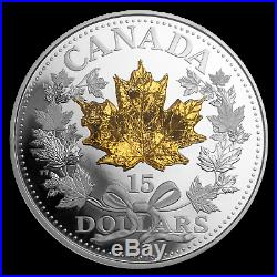 2019 Canada Silver $15 Golden Maple Leaf Proof SKU#195419