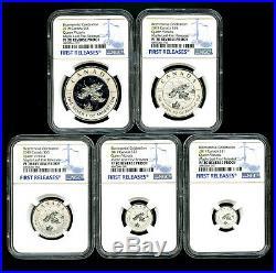 2019 Canada Silver Maple Leaf Ngc Pf70 Victoria Blue Rhodium Rev Proof Fr Set