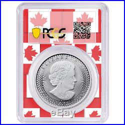 2019 Modified Proof $5 Silver Canadian Maple Leaf PCGS PR70 FDOI Pride of Two Na