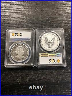 2019 Pride Of Two Nations 2 Coin Set Canada Maple/Silver Eagle PCGS PR69