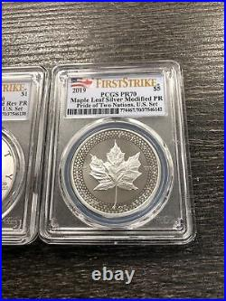 2019 Pride Of Two Nations 2 Coin Set Canada Maple/Silver Eagle PR70