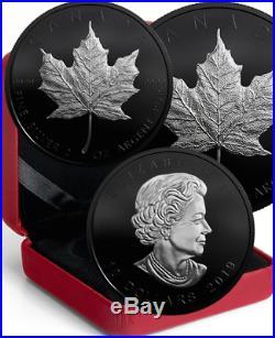 2019 Silver Maple Leaf Special Edition $10 2OZ Ag Proof BlackRhodium Coin Canada