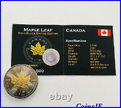2020 1 oz. 9999 Maple Leaf Gold Gilded & Ruthenium Silver Coin Empire Edition