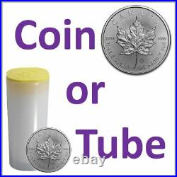 2020 1oz Silver Maple Leaf Coin (Single Coins or Tube of 25)