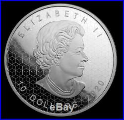 2020 2oz Pure Silver Coin Pulsating Maple Leaf Optical Effect Sold Out