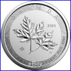 2020 $50 Magnificent Silver Canadian Maple Leaf 10 oz (Brilliant Uncirculated)