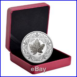 2020 CANADA CANADIAN MAPLE LEAVE BROOCH LEGACY 30$ 99.99% 2oz. PURE SILVER COIN