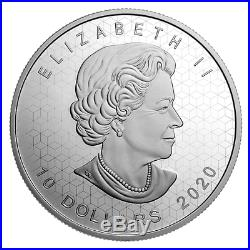 2020 CANADA PULSATING MAPLE LEAF 10$ 2oz. 99.99% PURE SILVER COIN