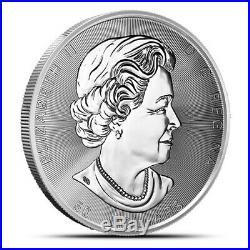 2020 Canada 10 OZ. 9999 Silver Magnificent Maple Leaf BU in Capsule $50 10oz