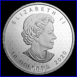 2020 Canada $10 Pulsating maple leaf coin pure silver in stock