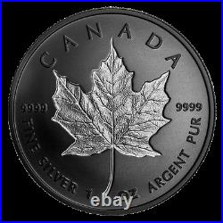 2020 Canada $20 Rhodium plated incuse pure silver maple leaf coin in stock