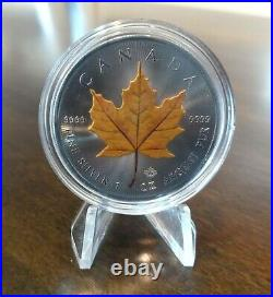 2020 Canada Maple Leaf 4 Seasons Set of 4 x 1 Ounce Silver Colorized Series