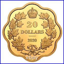 2020 Canada Masters Club Iconic Maple Leaves 20$ 99.99% Pure Silver Coin