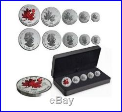 2020 Canada Pure Silver 5-Coin Maple Leaf Fractional Set (Mintage 3,000)