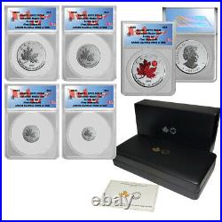 2020 Canada Pure Silver 5-Coin Maple Leaf Fractional Set RP70 First Release