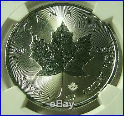 2020 Canada S$5 MAPLE LEAF 1 Oz. Silver Bullion Strike NGC MS70 Pop 21 RARE