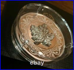 2020 Maple Leaf Brooch Legacy 2 oz. Pure. 9999 Silver Coin with COA and box UNC
