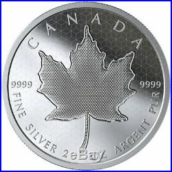 2020 Pulsating Maple Leaf $10 2 oz. Pure Silver Proof Coin Canada Mintage 3000