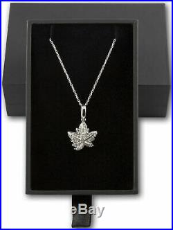 2020 Royal Canadian Maple Leaf Brooch Legacy $30 2OZ Pure Silver Proof Coin