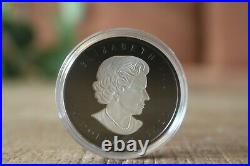 2020 Silver Maple Leaf $20 Rhodium-Plated Double-Incuse 1 OZ Silver Coin Canada