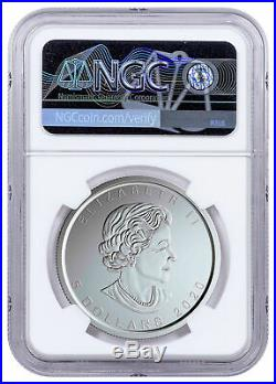 2020 W Canada 1 oz Burnished Silver Maple Leaf $5 NGC MS70 FR WithCOA SKU59504
