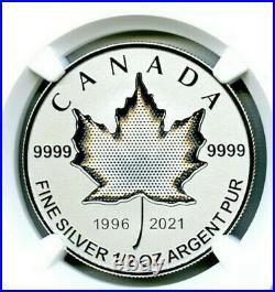 2021 $4 1/2 Oz Canada Silver Pulsating Maple Leaf Ngc Pf70 Rev Proof Mintage 3k